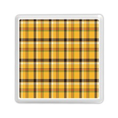 Plaid Yellow Line Memory Card Reader (square)