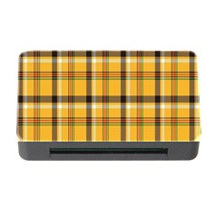 Plaid Yellow Line Memory Card Reader With Cf by Alisyart