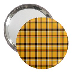 Plaid Yellow Line 3  Handbag Mirrors by Alisyart