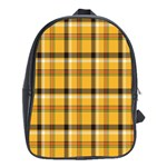 Plaid Yellow Line School Bags (XL)  Front