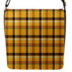 Plaid Yellow Line Flap Messenger Bag (s) by Alisyart
