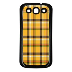 Plaid Yellow Line Samsung Galaxy S3 Back Case (black) by Alisyart