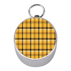 Plaid Yellow Line Mini Silver Compasses by Alisyart