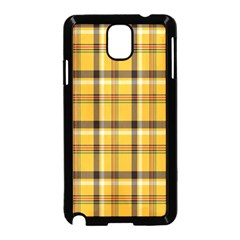Plaid Yellow Line Samsung Galaxy Note 3 Neo Hardshell Case (black)