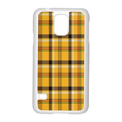 Plaid Yellow Line Samsung Galaxy S5 Case (white)
