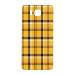 Plaid Yellow Line Samsung Galaxy Alpha Hardshell Back Case by Alisyart