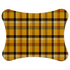 Plaid Yellow Line Jigsaw Puzzle Photo Stand (bow)