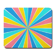 Rhythm Heaven Megamix Circle Star Rainbow Color Large Mousepads