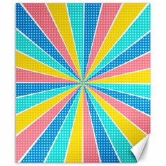 Rhythm Heaven Megamix Circle Star Rainbow Color Canvas 8  X 10  by Alisyart