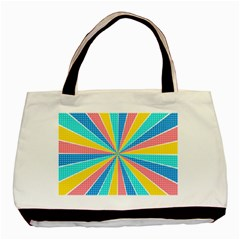 Rhythm Heaven Megamix Circle Star Rainbow Color Basic Tote Bag (two Sides) by Alisyart
