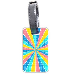 Rhythm Heaven Megamix Circle Star Rainbow Color Luggage Tags (two Sides)