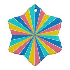 Rhythm Heaven Megamix Circle Star Rainbow Color Snowflake Ornament (two Sides) by Alisyart