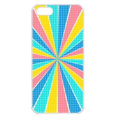 Rhythm Heaven Megamix Circle Star Rainbow Color Apple Iphone 5 Seamless Case (white) by Alisyart