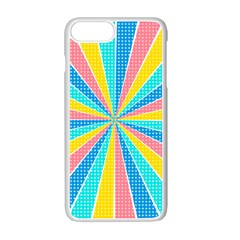 Rhythm Heaven Megamix Circle Star Rainbow Color Apple Iphone 7 Plus White Seamless Case