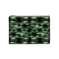 Stripes Camo Pattern Print Cosmetic Bag (medium)  by dflcprints