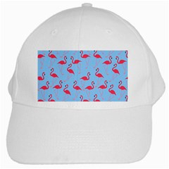 Flamingo Pattern White Cap by Valentinaart