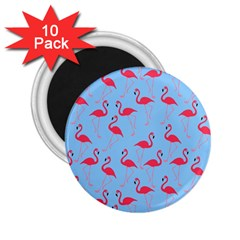 Flamingo Pattern 2 25  Magnets (10 Pack)  by Valentinaart
