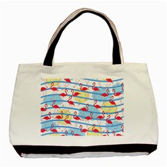 Flamingo Pattern Basic Tote Bag (two Sides) by Valentinaart