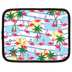 Flamingo Pattern Netbook Case (large) by Valentinaart