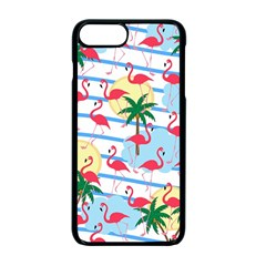 Flamingo Pattern Apple Iphone 7 Plus Seamless Case (black) by Valentinaart
