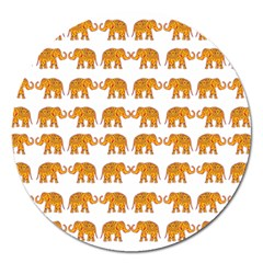 Indian Elephant  Magnet 5  (round) by Valentinaart