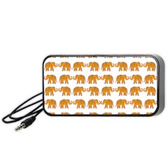 Indian Elephant  Portable Speaker (black) by Valentinaart