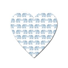 Indian Elephant  Heart Magnet by Valentinaart