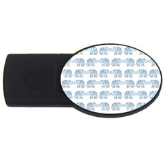 Indian Elephant  Usb Flash Drive Oval (4 Gb) by Valentinaart