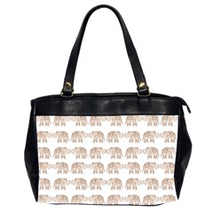 Indian Elephant Office Handbags (2 Sides)  by Valentinaart