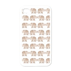Indian Elephant Apple Iphone 4 Case (white) by Valentinaart