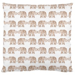 Indian Elephant Large Cushion Case (one Side) by Valentinaart