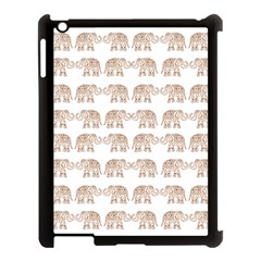 Indian Elephant Apple Ipad 3/4 Case (black) by Valentinaart