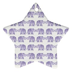 Indian Elephant Pattern Ornament (star) by Valentinaart