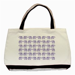 Indian Elephant Pattern Basic Tote Bag (two Sides) by Valentinaart