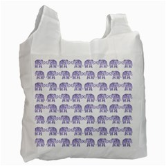 Indian Elephant Pattern Recycle Bag (one Side) by Valentinaart