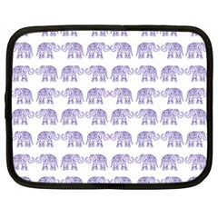 Indian Elephant Pattern Netbook Case (xxl)  by Valentinaart