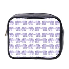 Indian Elephant Pattern Mini Toiletries Bag 2 Side by Valentinaart