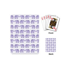 Indian Elephant Pattern Playing Cards (mini)  by Valentinaart