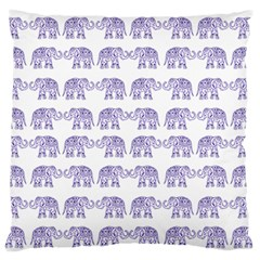 Indian Elephant Pattern Standard Flano Cushion Case (two Sides) by Valentinaart