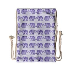 Indian Elephant Pattern Drawstring Bag (small) by Valentinaart