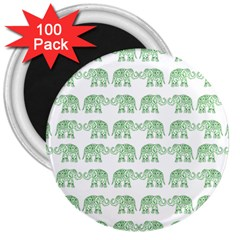 Indian Elephant Pattern 3  Magnets (100 Pack) by Valentinaart