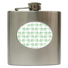 Indian Elephant Pattern Hip Flask (6 Oz) by Valentinaart