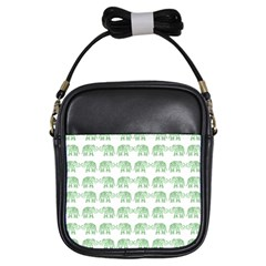 Indian Elephant Pattern Girls Sling Bags by Valentinaart