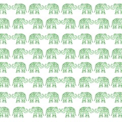 Indian Elephant Pattern Magic Photo Cubes by Valentinaart