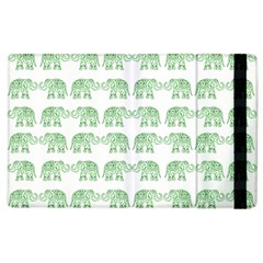 Indian Elephant Pattern Apple Ipad 2 Flip Case by Valentinaart