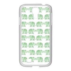 Indian Elephant Pattern Samsung Galaxy S4 I9500/ I9505 Case (white) by Valentinaart