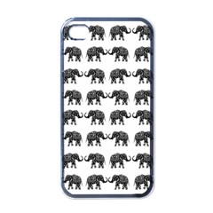 Indian Elephant Pattern Apple Iphone 4 Case (black) by Valentinaart