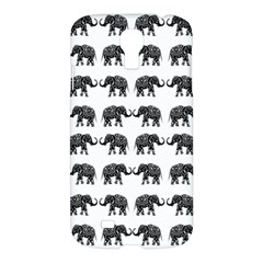 Indian Elephant Pattern Samsung Galaxy S4 I9500/i9505 Hardshell Case by Valentinaart