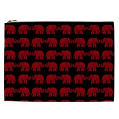 Indian Elephant Pattern Cosmetic Bag (xxl)  by Valentinaart