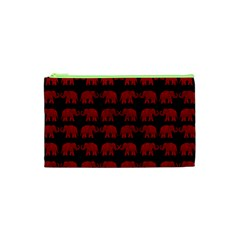 Indian Elephant Pattern Cosmetic Bag (xs) by Valentinaart